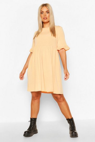 Apricot Plus Recycled Basic Smock Dress