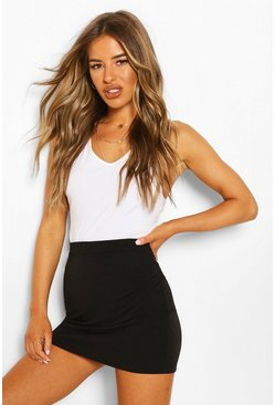 Black Petite Recycled Basic Mini Skirt