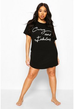 Black Plus Curvy & Fabulous Nightie