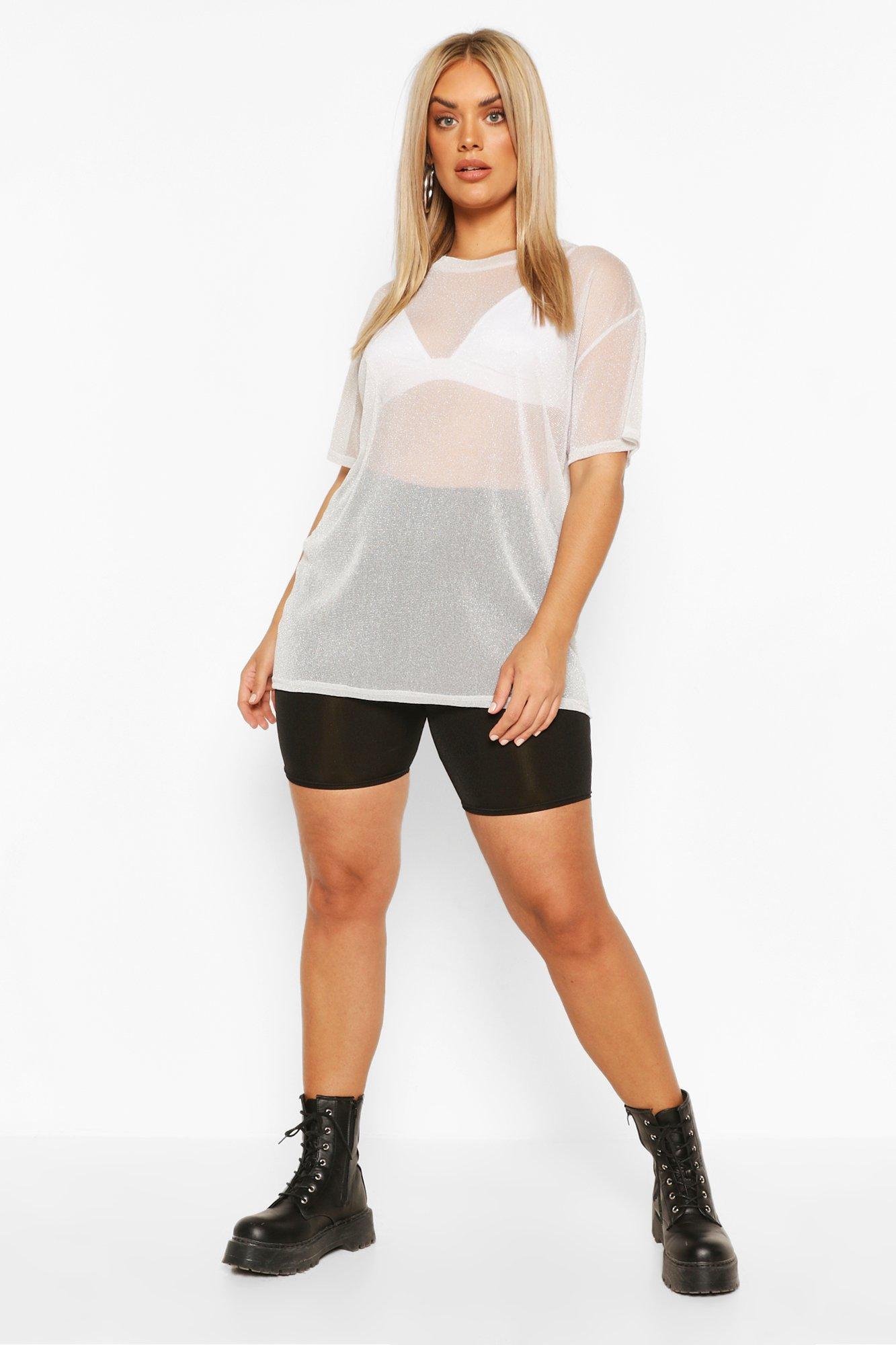 Plus Cotton Ringer T-shirt 3