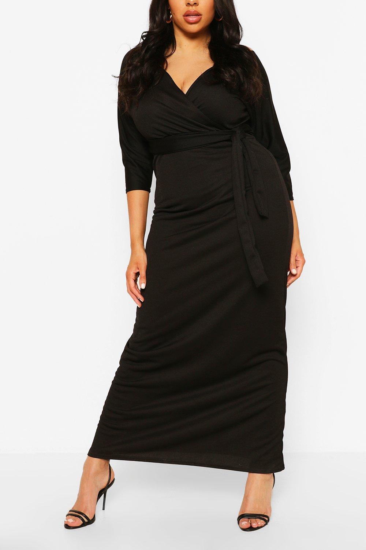 Plus Wrap Short Sleeve Maxi Dress 8