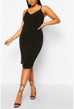 Black Plus Cami Midi Dress