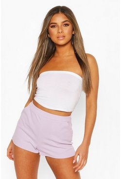 Lilac Petite Tailored Shorts