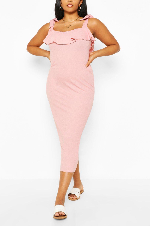 Plus Ruffle Tie Shoulder Midaxi Dress 6