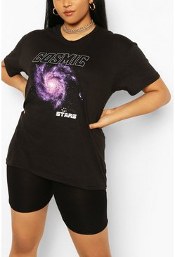 Camiseta Cosmic Plus, Negro