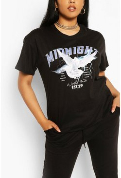 Black Plus Midnight Band T-shirt