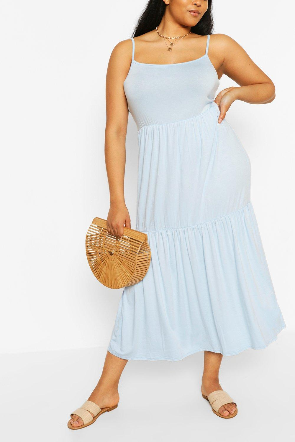Plus Tiered Strappy Maxi Dress 4