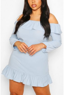 Sky Plus Ruffle Off The Shoulder Sundress