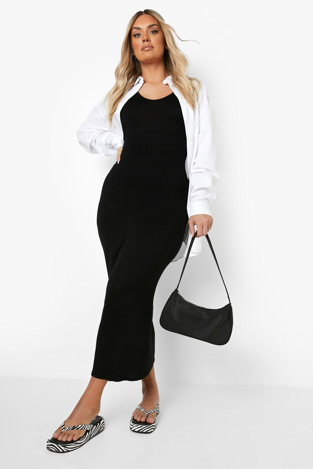 Plus V Neck Jersey Maxi Dress 8