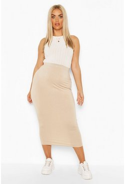 Stone Plus Tube Midaxi Skirt