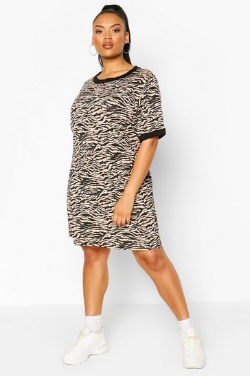 Stone Plus Tiger Ringer T-shirt Dress