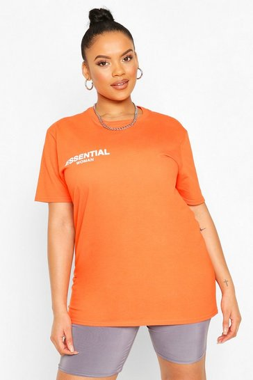 Orange Plus Essential T-Shirt