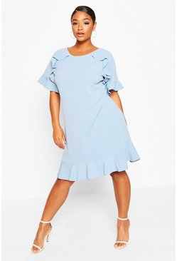 Sky Plus Ruffle Detail Shift Dress