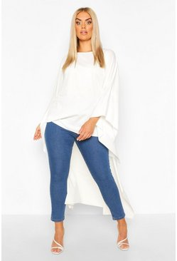 Ivory Plus Tunic Maxi Top