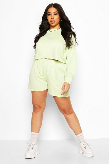 Lime Plus Balloon Sleeve Sweat & Short Set