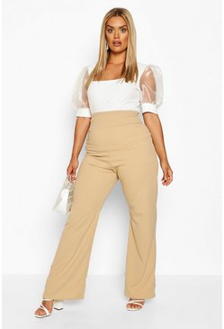 Stone Plus Super High Waist Shape Wide Leg Trouser