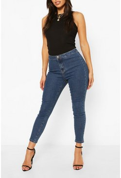 Mid wash Petite High Rise Super Stretch Skinny Jean
