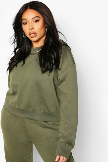 Khaki Plus Supersoft Oversized Sweat