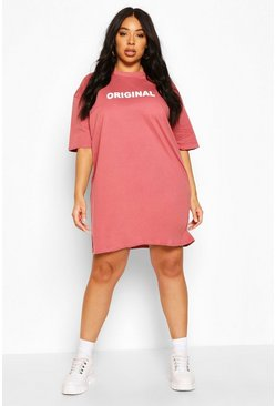 Rose Plus Original Oversized T-Shirt Dress