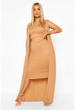 Camel Plus 3 Piece Duster Set Co-ord