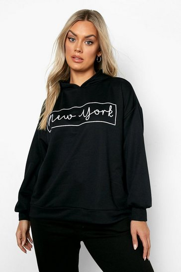 Black Plus New York Oversized Hooded Sweat