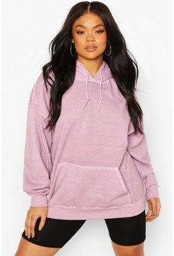 Lilac Plus Oversized Washed Hoodie