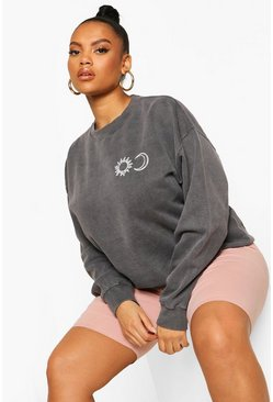 Black Plus Sun & Moon Sweatshirt
