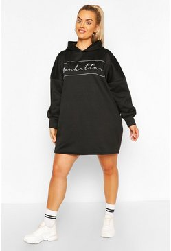 Black Plus Manhattan Oversized Sweat Dress