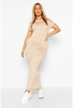 Stone Plus Cap Sleeve Maxi Dress