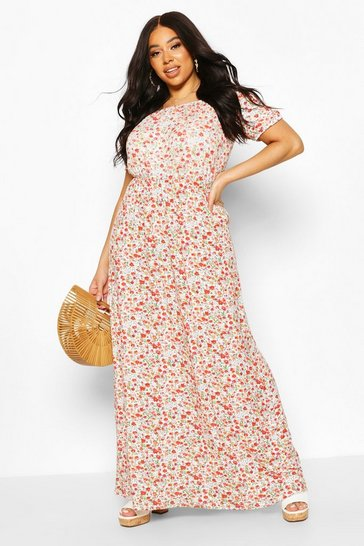 Ivory Plus Bardot Maxi Dress