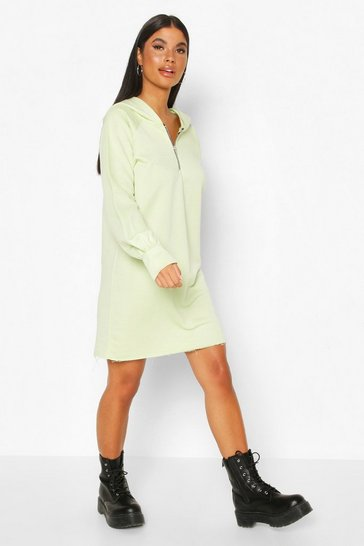 Mint Petite Zip Up Hooded Sweat Dress