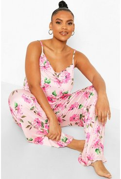 Plus Floral Cami PJ Set, Blush