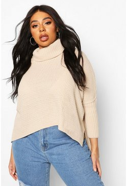 Stone Plus Roll Neck Sweater