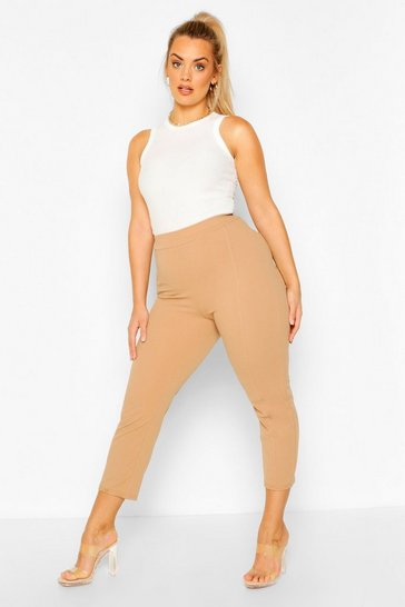 Camel Plus Stitch Seam Jodhpur Trousers