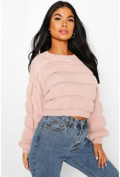 Blush Petite Bubble Knit Jumper