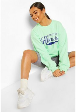 Mint Petite 'Atlanta' Oversized Sweat