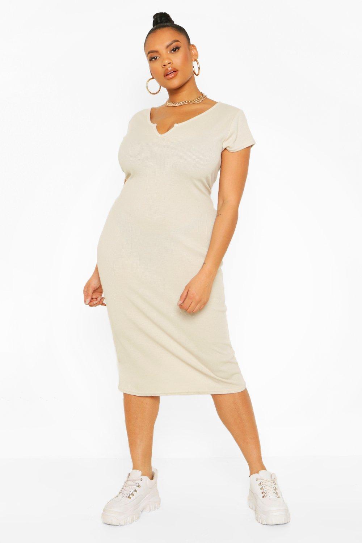 Plus Cap Sleeve Midi Dress 8