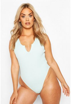 Aqua Plus Notch Front Swimsuit