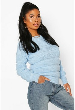 Pale blue Petite Bubble Knit Sweater