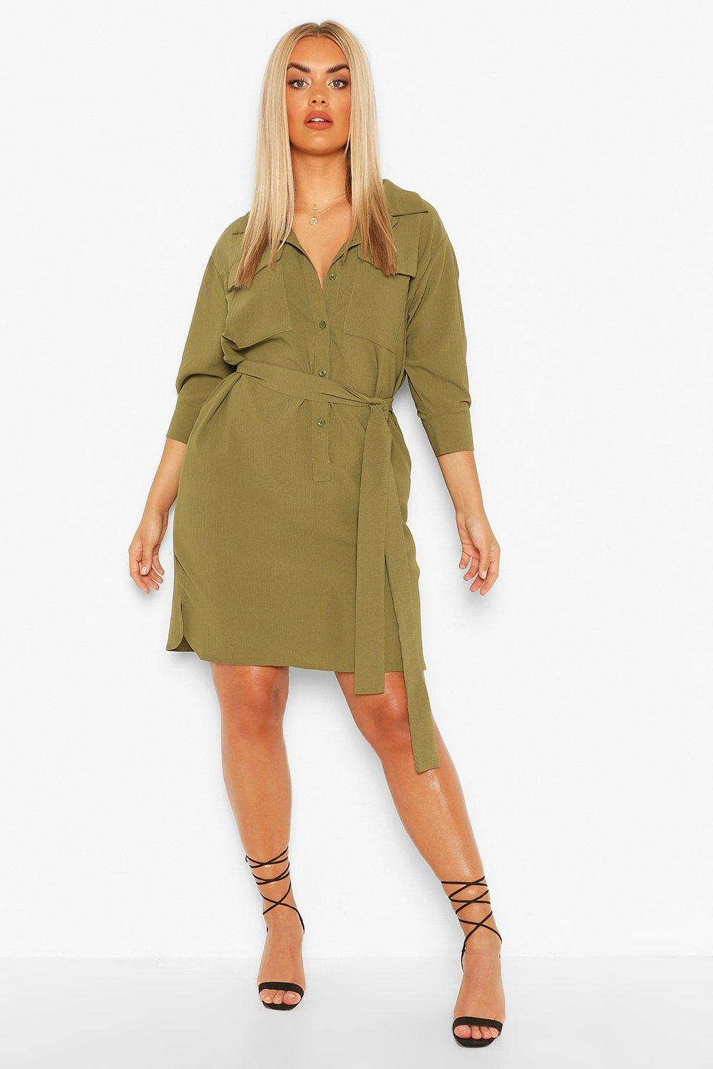 Plus Utility Shirt Dress 2