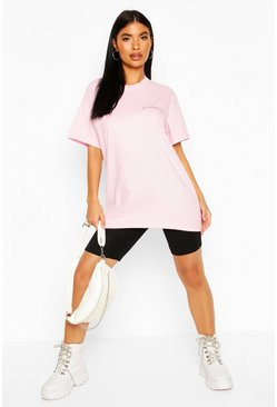 Pink Petite Small But Sassy Slogan T-Shirt