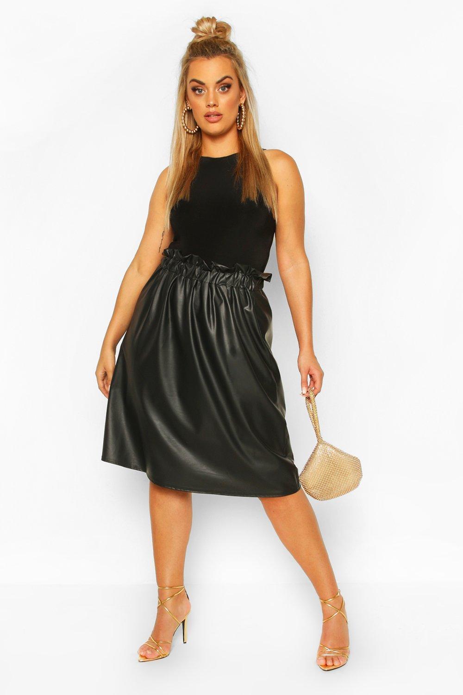 Plus Pu Pleated Midi Skirt 6
