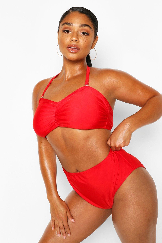 Plus Bandeau High Waist Bikini 6