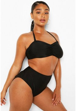 Black Plus Bandeau High Waist Bikini