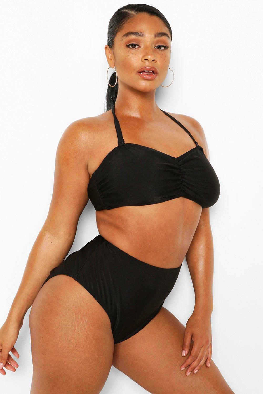 Plus Bandeau High Waist Bikini 2