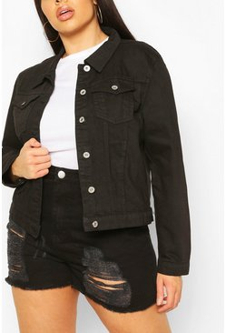 Black Plus Western Denim Jacket