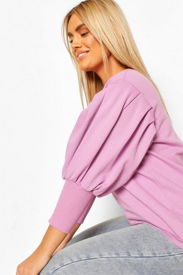 Lilac Plus Extreme Puff Sleeve Sweat