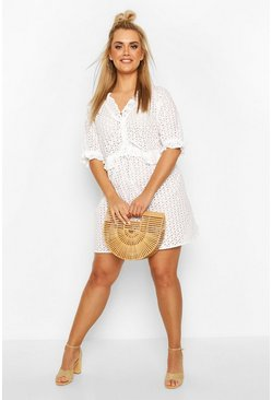 White Plus Broiderie Anglais Beach Dress