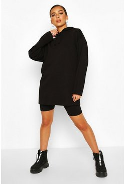 Black Petite Super Oversized Hoody