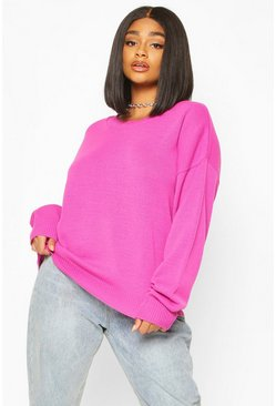 Pink Plus Boxy Crew Neck Jumper
